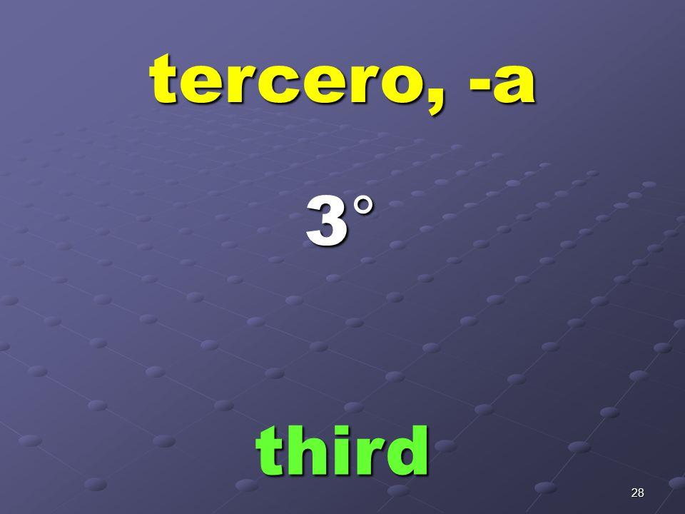 27 segundo, -a second 2°2°2°2°
