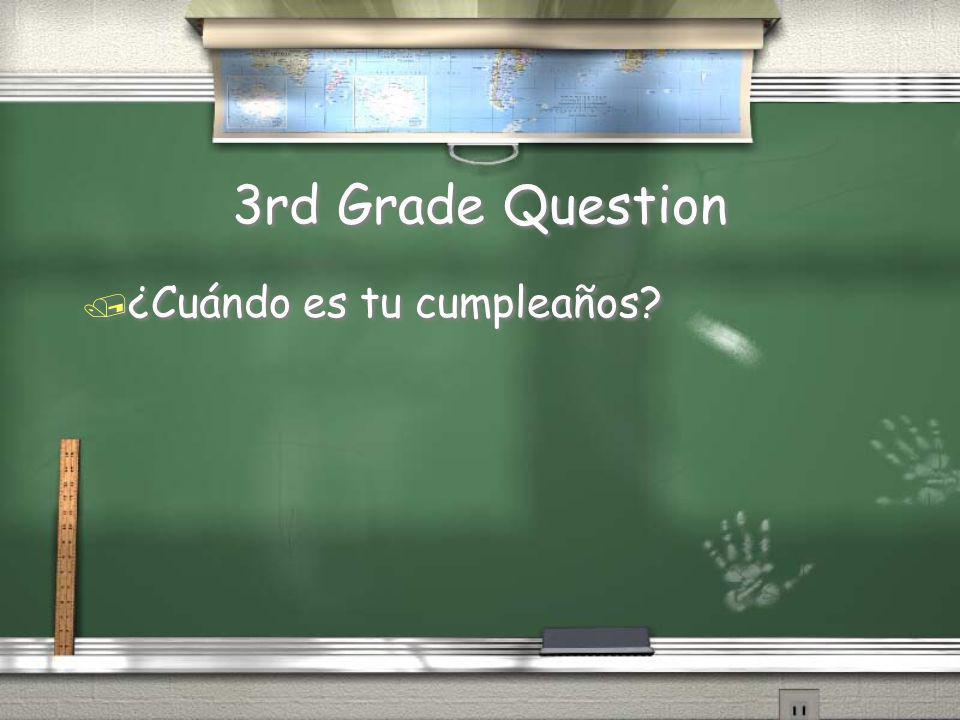 3rd Grade Answer / Son las….Es la La clase es a las siete y cuarenta. / Answer may vary / Son las….Es la La clase es a las siete y cuarenta. / Answer