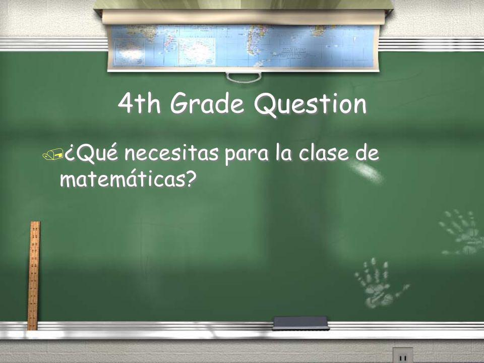 5th Grade Answer / La clase más difícil para mi es inglés porque no me gusta ni leer ni escribir. / Answers may vary / La clase más difícil para mi es