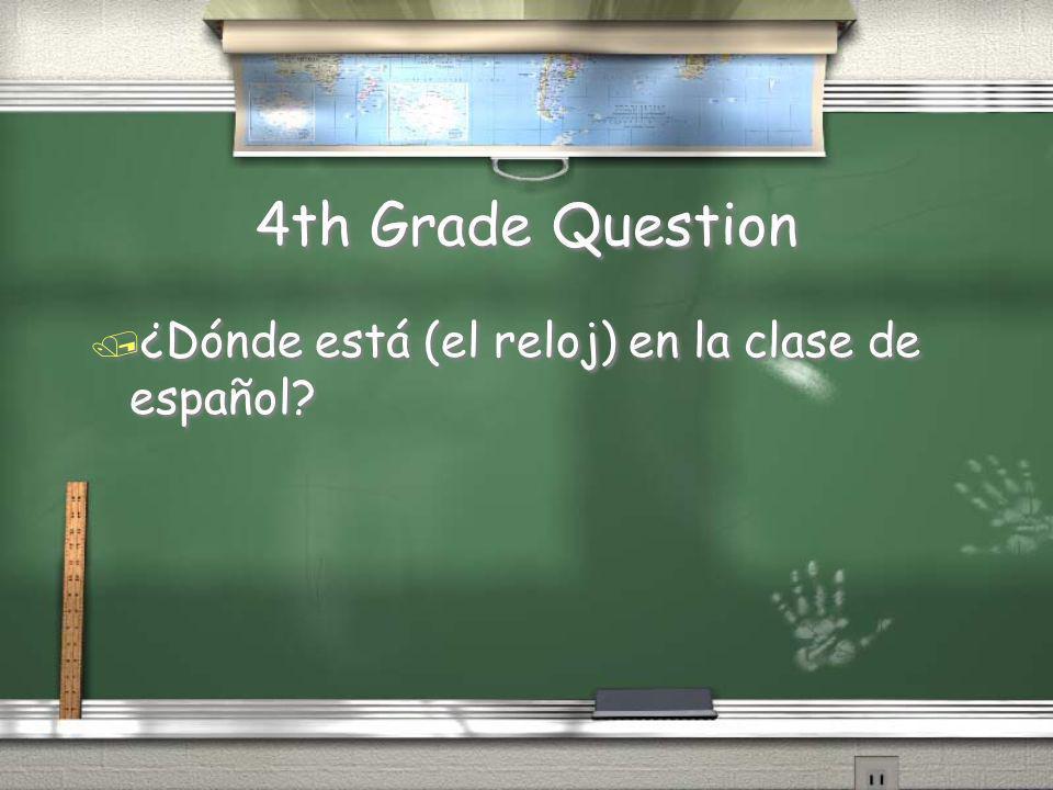 4th Grade Answer / Para la clase de matemáticas, necesito una calculadora, un lápiz, mi cuaderno, mi libro, y mucho papel. Return