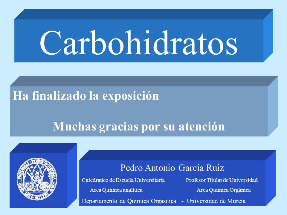 Pedro Antonio García Ruiz Catedrático de Escuela Universitaria Profesor Titular de Universidad Area Química analítica Area Química Orgánica Departamen