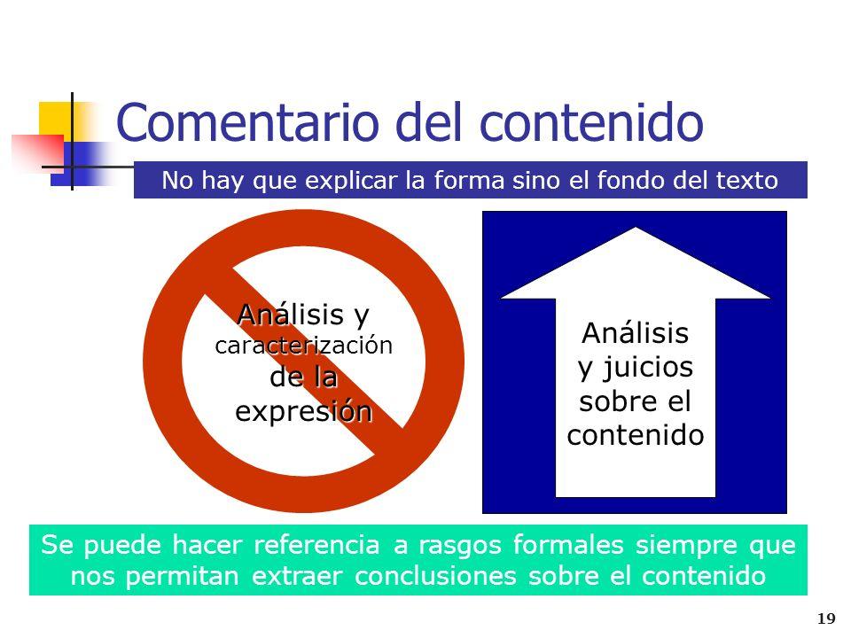3. Conclusión ( usando un marcador de cierre) Se recoge una síntesis de lo expuesto en el comentario sin repetir demasiado y sin perder la originalida