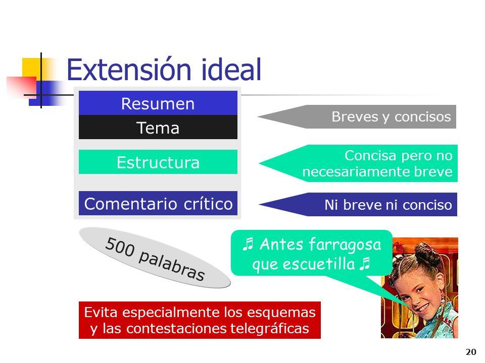 19 Comentario del contenido Análisis y caracterización de la expresión Análisis y juicios sobre el contenido No hay que explicar la forma sino el fond