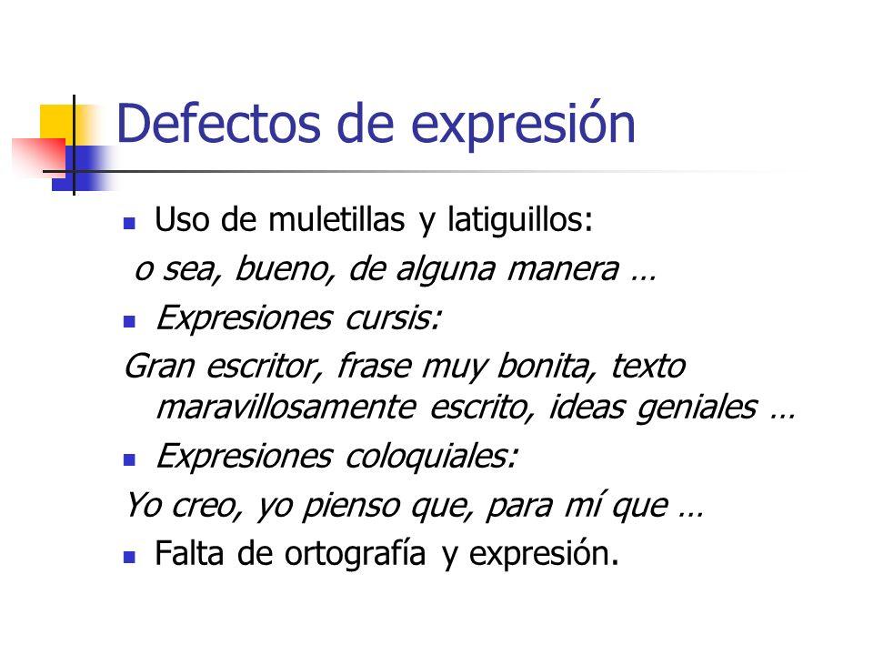 25 Defectos de expresión Abreviaturas taquigráficas Cdo. tomamos apuntes, podemos usar + d. 1 abreviatura d. tipo taquigráf. pa. poder escribir to. rá