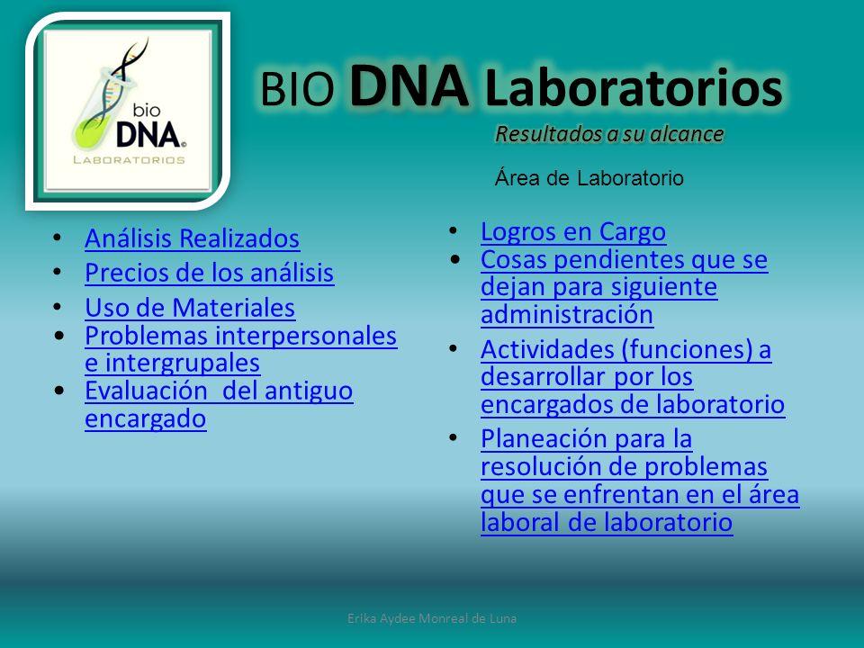 Erika Aydee Monreal de Luna HEMATOLOGÍA BIOQUIMICA INMUNOLOGIA PARASITOLOGIA UROANALISIS MICROBIOLOGIA OTROS PRUEBAS ESPECIALES (INMUNOLOGIA)PRUEBAS ESPECIALES (INMUNOLOGIA)