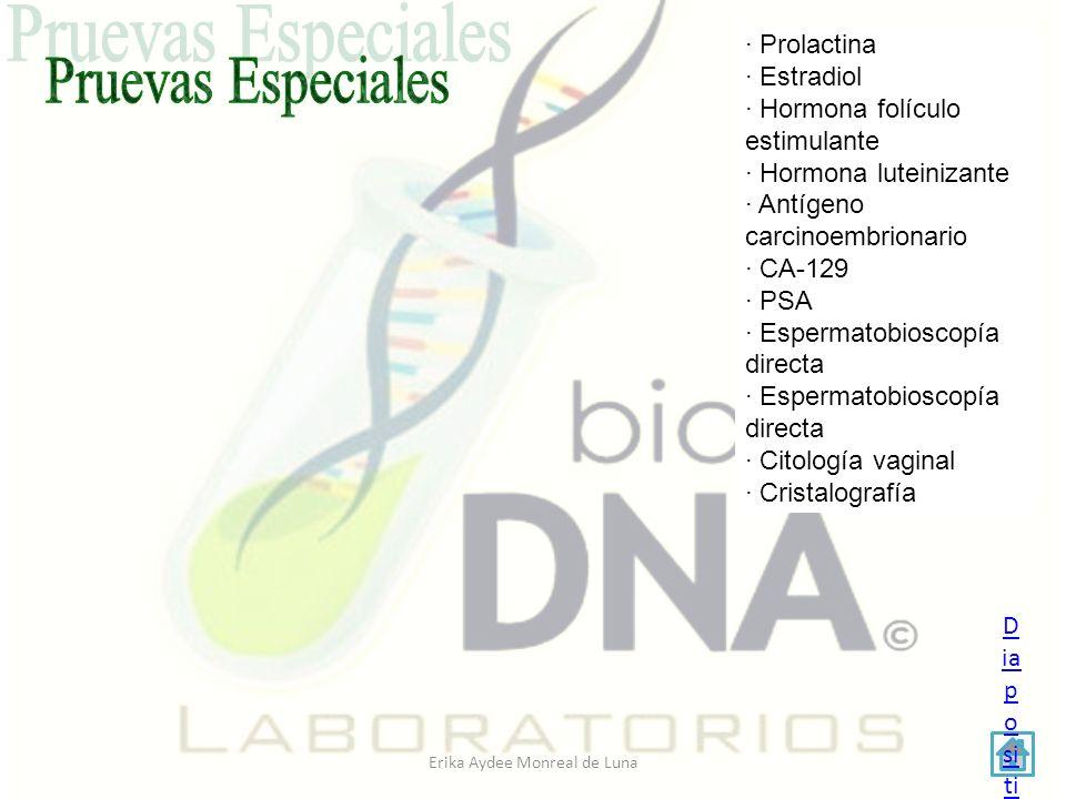 Erika Aydee Monreal de Luna AREA DE HEMATOLOGIA Y BIOQUÍMICA CLINICA AREA DE HEMATOLOGIA Y BIOQUÍMICA CLINICA EQUIPO PARA BIOMETRÍA EQUIPO PARA BIOMETRÍA HEMATICA EQUIPO PARA BIOQUÍMICA EQUIPO PARA BIOQUÍMICA AREA MICROBIOLOGIA AREA MICROBIOLOGIA - mobiliario - equipo - medios de cultivo AREA DE PARASITOLOGIA Y UROANALISIS AREA DE PARASITOLOGIA Y UROANALISIS -mobiliario -equipo REACTIVOS Materiales en Uso