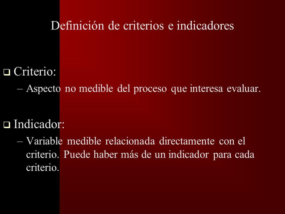 Establecer el Plan de Análisis de Datos t Los pasos a seguir son: Desarrollo de criterios e indicadores.
