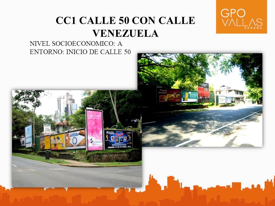 CC1 CALLE 50 CON CALLE VENEZUELA NIVEL SOCIOECONOMICO: A ENTORNO: INICIO DE CALLE 50