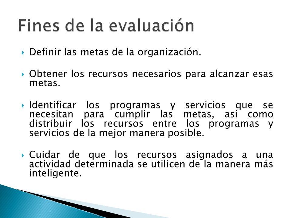 Definir las metas de la organización. Obtener los recursos necesarios para alcanzar esas metas.
