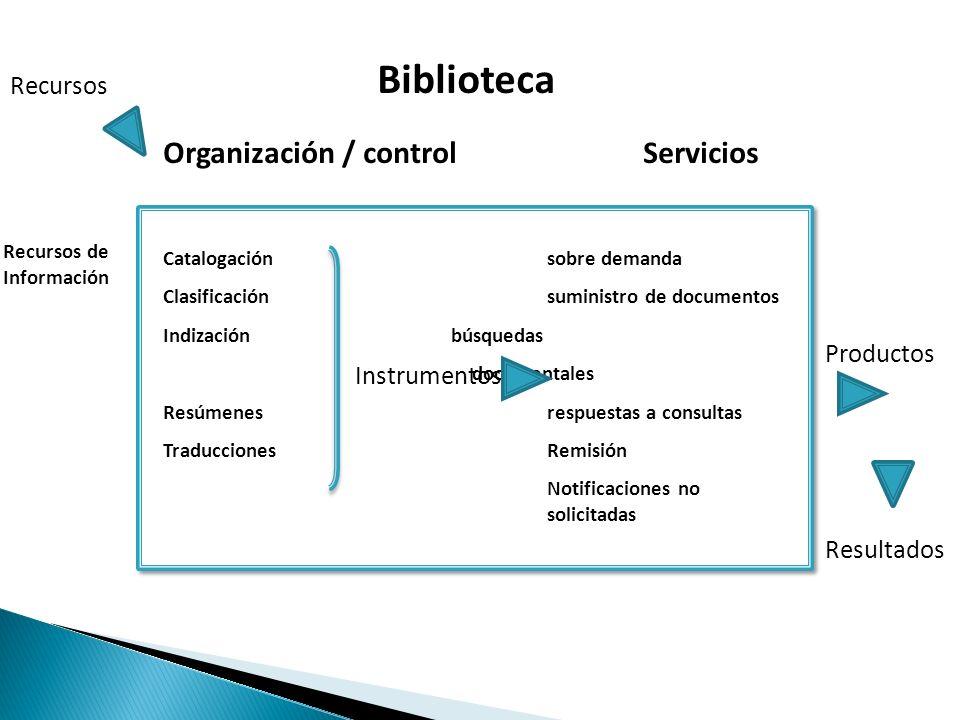 Relación entre los recursos de información y las personas formadas para la explotación de estos recursos en beneficio de los usuarios.
