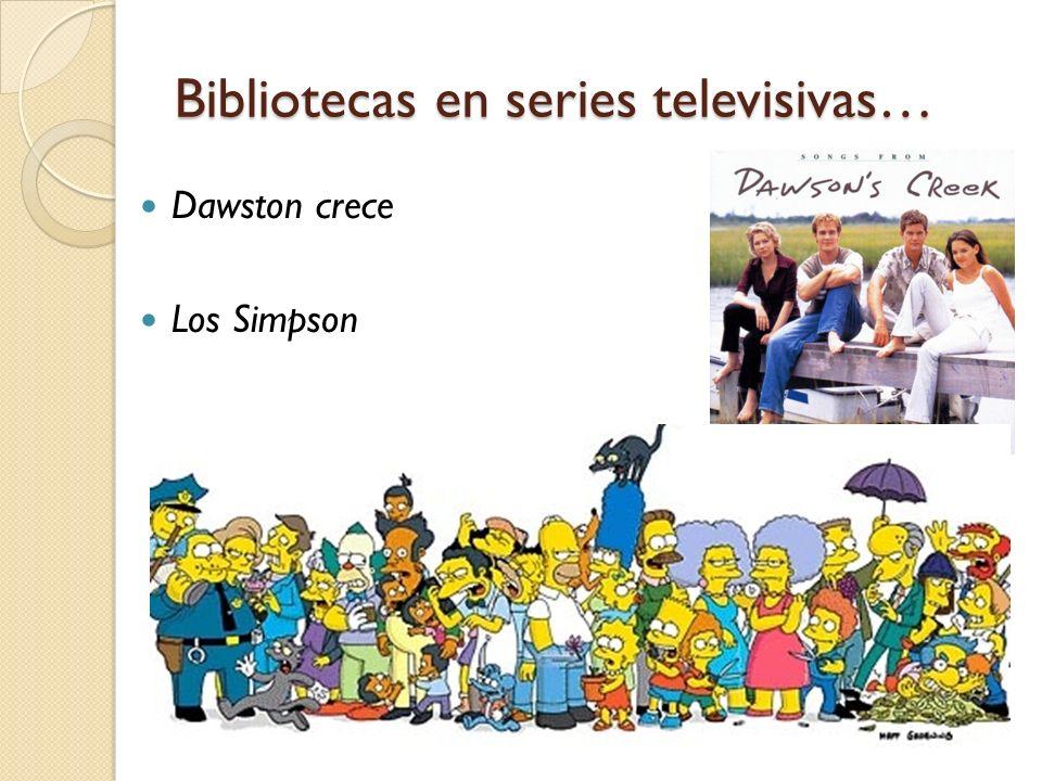 Bibliotecas en series televisivas… Dawston crece Los Simpson