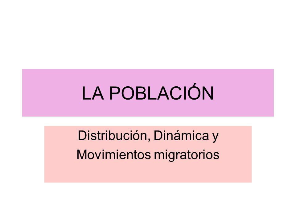 LA POBLACIÓN Distribución, Dinámica y Movimientos migratorios