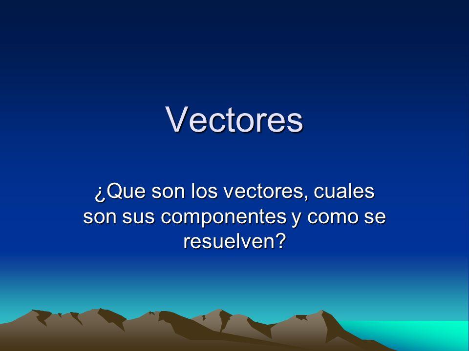 Vectores ¿Que son los vectores, cuales son sus componentes y como se resuelven?