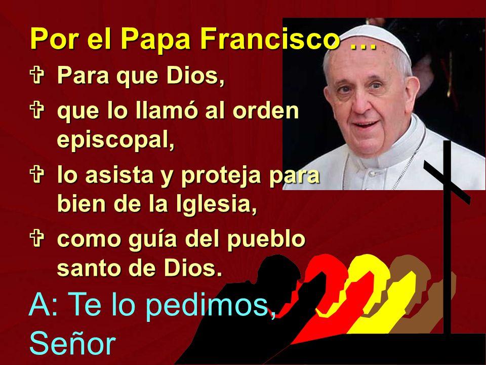 Para que Dios, Para que Dios, que lo llamó al orden episcopal, que lo llamó al orden episcopal, lo asista y proteja para bien de la Iglesia, lo asista