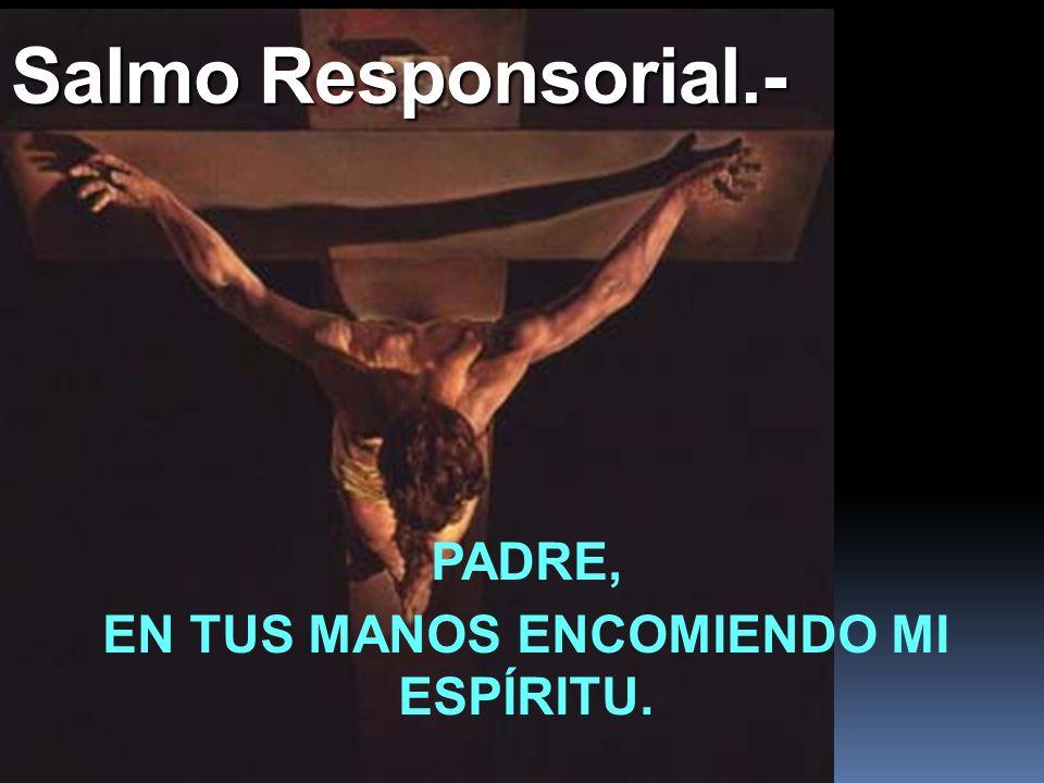 Salmo Responsorial.- PADRE, EN TUS MANOS ENCOMIENDO MI ESPÍRITU.