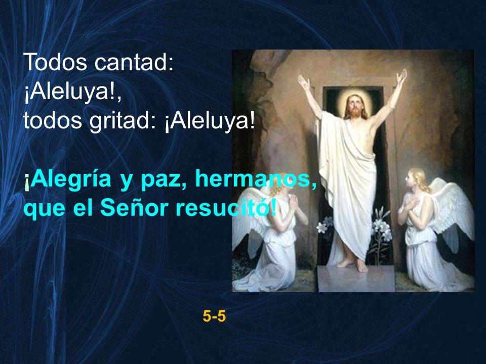 Todos cantad: ¡Aleluya!, todos gritad: ¡Aleluya! ¡Alegría y paz, hermanos, que el Señor resucitó! 5-5