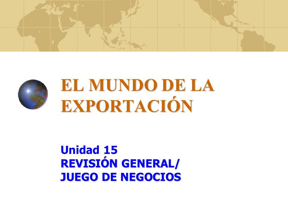CONTENIDO DEL CURSO 1 UNIDAD INTRODUCTORIA 2 COMERCIO INTERNACIONAL 3 ASPECTOS ADUANEROS, IMPORTACIÓN Y EXPORTACIÓN 4 ¿PORQUÉ EXPORTAR.