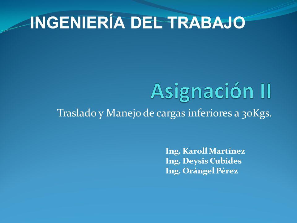Internacionales - ISO: Las Normas ISO 11228 en el Manejo Manual de CargasLas Normas ISO 11228 en el Manejo Manual de Cargas - Organización Internacional del Trabajo (OIT) - IOSH (Instituto Nacional de Seguridad y Salud de los EEUU) - OMS - INSHT - Guía Técnica de manipulación manual de cargas (INSHT) -ANSI El Instituto Nacional Estadounidense de Estándares (ANSI, por sus siglas en inglés: American National Standards Institute) Nacionales - Constitución Bolivariana de Venezuela - Ley Orgánica del Trabajo - Ley del Seguro Social -Reglamento de las Condiciones de Higiene y Seguridad en el Trabajo.