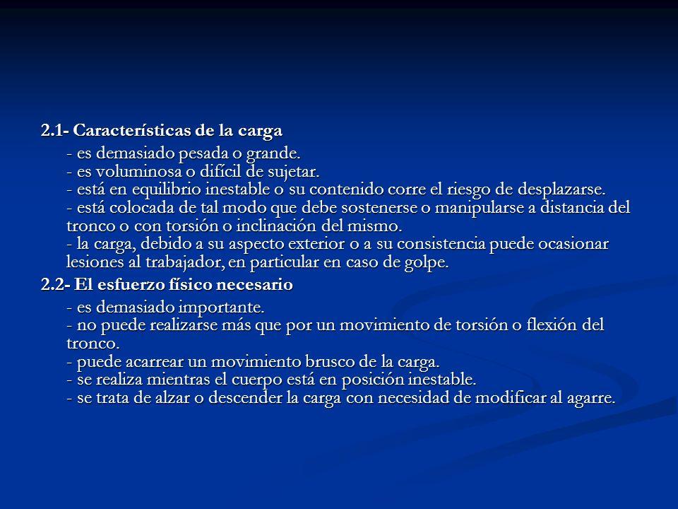 2.3- Características del medio de trabajo - el espacio libre, especialmente vertical, resulta insuficiente para el ejercicio de la actividad.