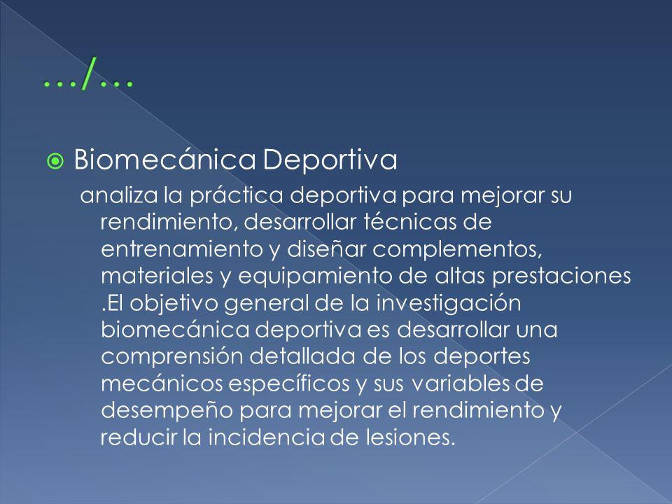 Biomecánica Deportiva analiza la práctica deportiva para mejorar su rendimiento, desarrollar técnicas de entrenamiento y diseñar complementos, materia