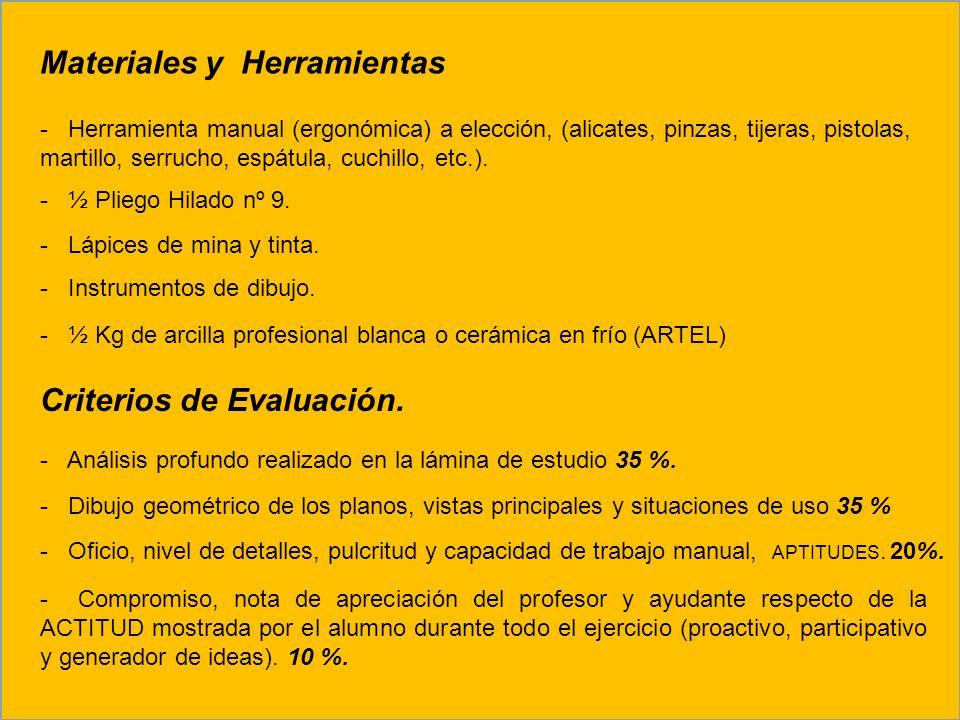 Materiales y Herramientas - Herramienta manual (ergonómica) a elección, (alicates, pinzas, tijeras, pistolas, martillo, serrucho, espátula, cuchillo,