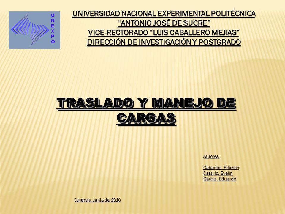 UNIVERSIDAD NACIONAL EXPERIMENTAL POLITÉCNICA ANTONIO JOSÉ DE SUCRE VICE-RECTORADO LUIS CABALLERO MEJIAS DIRECCIÓN DE INVESTIGACIÓN Y POSTGRADO TRASLA