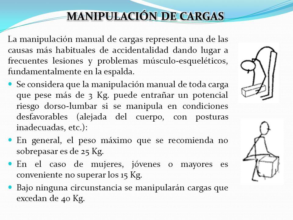 La manipulación manual de cargas representa una de las causas más habituales de accidentalidad dando lugar a frecuentes lesiones y problemas músculo-e