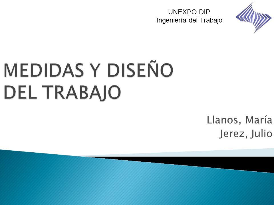 Llanos, María Jerez, Julio UNEXPO DIP Ingeniería del Trabajo