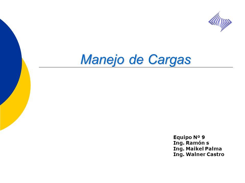 Equipo Nº 9 Ing. Ramón s Ing. Maikel Palma Ing. Walner Castro Manejo de Cargas