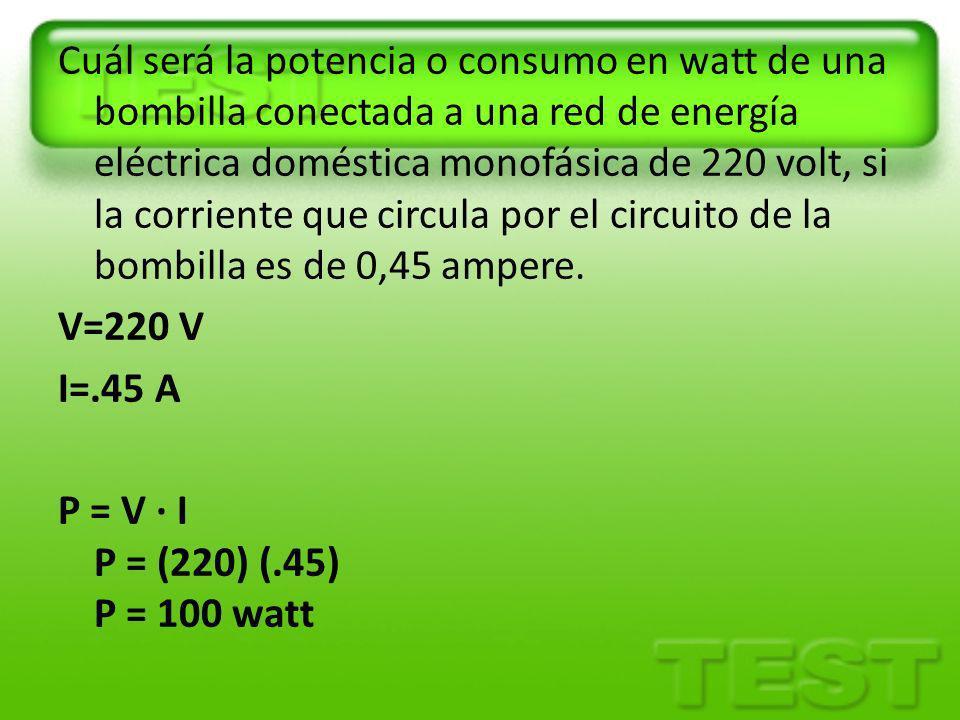 Se construye un calentador eléctrico aplicando una diferencia de potencial de 110V a un alambre de nicromo cuya resistencia total es de 8.