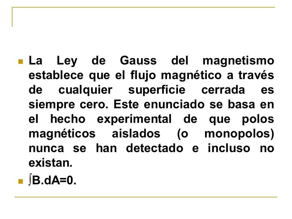 La Ley de Gauss del magnetismo establece que el flujo magnético a través de cualquier superficie cerrada es siempre cero. Este enunciado se basa en el