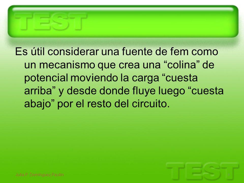 FUERZA ELECTROMOTRIZ.(ELECTROMOTANCIA) Julia P.
