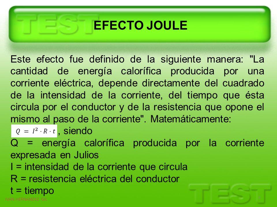 IVAN HERNANDEZ GIL 6 Recordar que la energía se expresa en Joules (símbolo J).