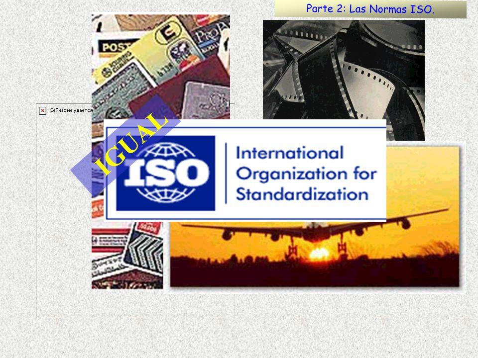 IGUAL Parte 2: Las Normas ISO.