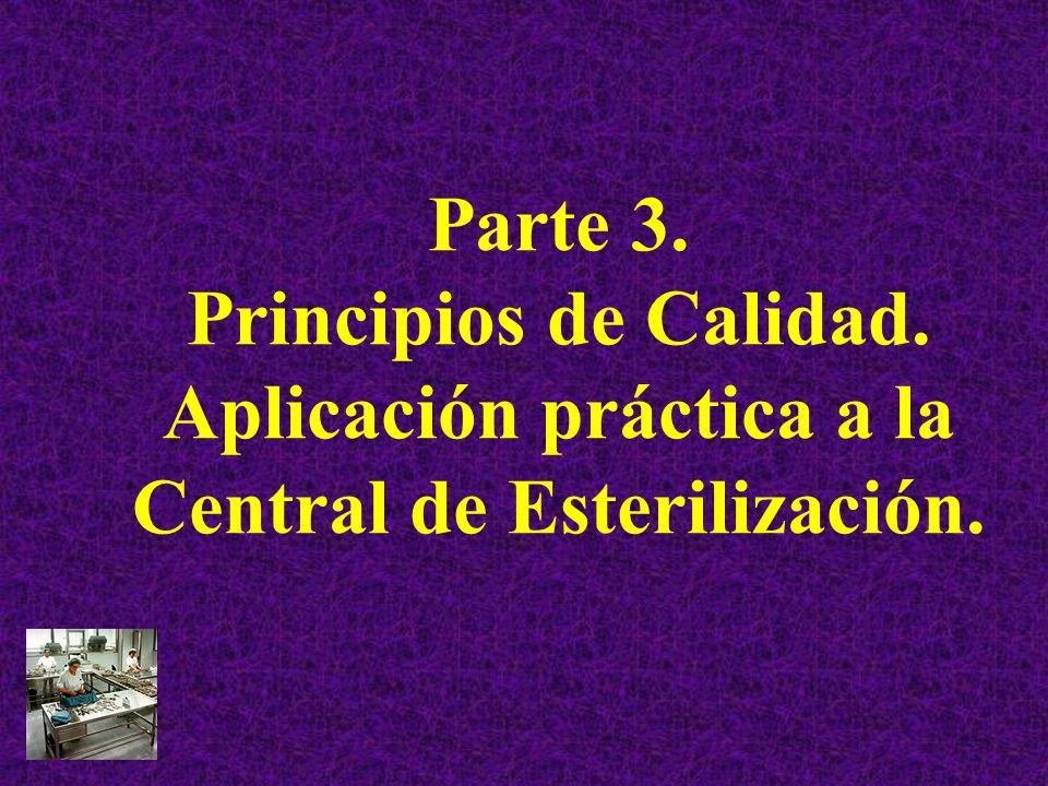 Parte 3. Principios de Calidad. Aplicación práctica a la Central de Esterilización.