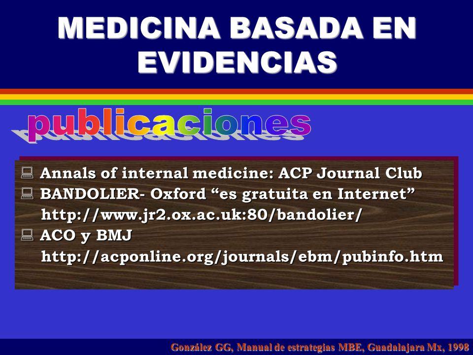 MEDICINA BASADA EN EVIDENCIAS HOSPITAL CIVIL DE GUADALAJARA HOSPITAL CIVIL DE GUADALAJARA Dr. Juán I Menchaca Dr. Juán I Menchaca http://www.hcg.udg.m