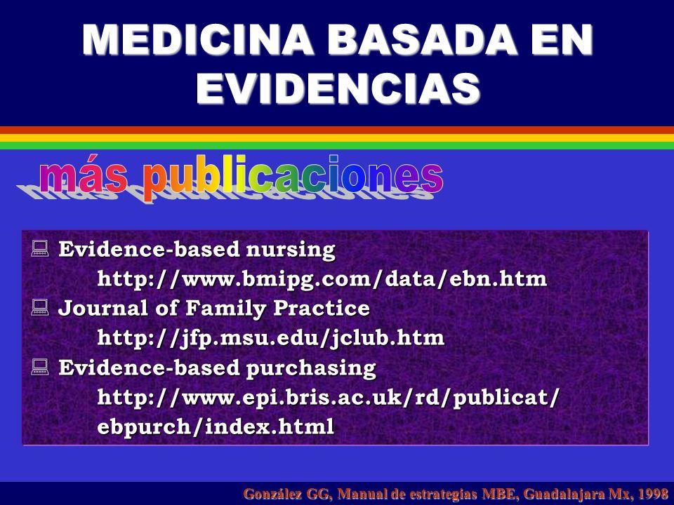 MEDICINA BASADA EN EVIDENCIAS Annals of internal medicine: ACP Journal Club Annals of internal medicine: ACP Journal Club BANDOLIER- Oxford es gratuit