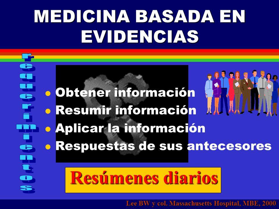 MEDICINA BASADA EN EVIDENCIAS Lee BW y col.