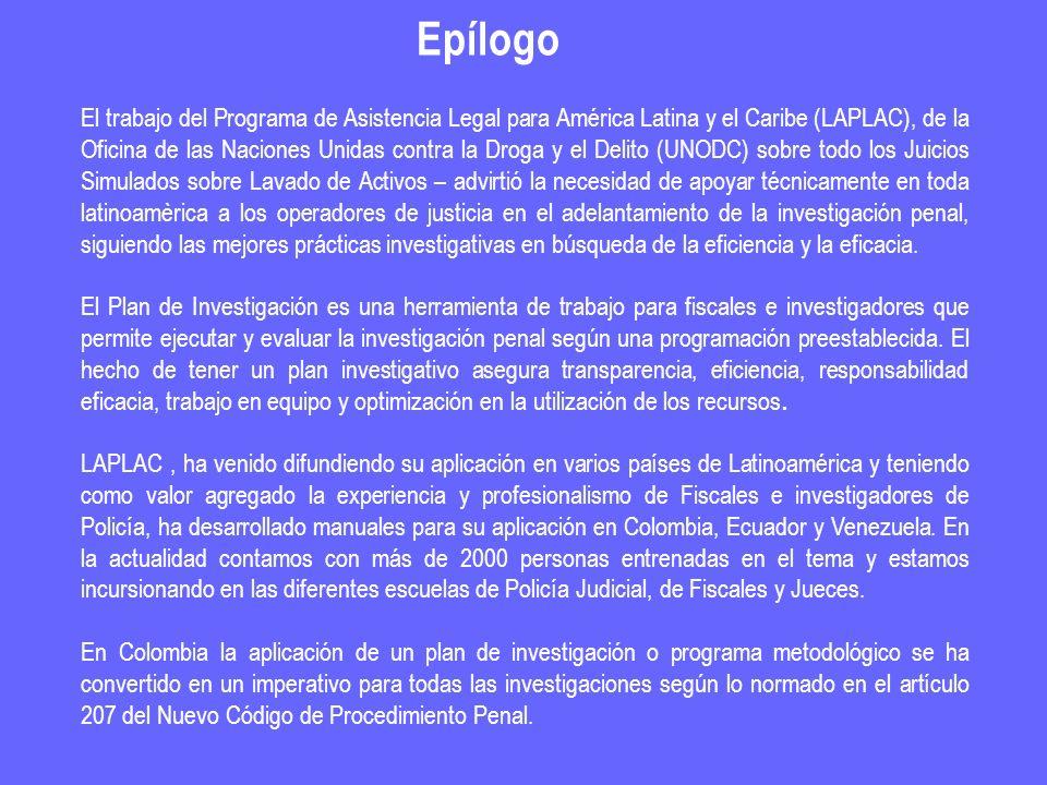 El trabajo del Programa de Asistencia Legal para América Latina y el Caribe (LAPLAC), de la Oficina de las Naciones Unidas contra la Droga y el Delito