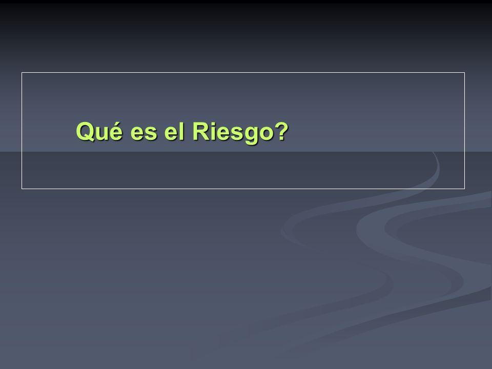 Qué es el Riesgo?