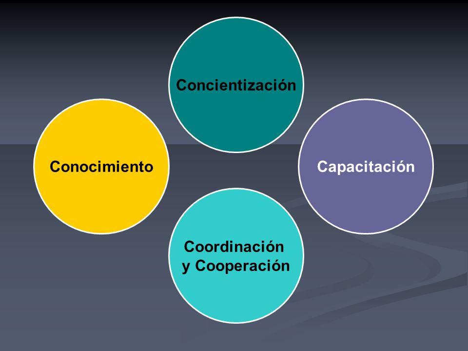 Concientización ConocimientoCapacitación Coordinación y Cooperación