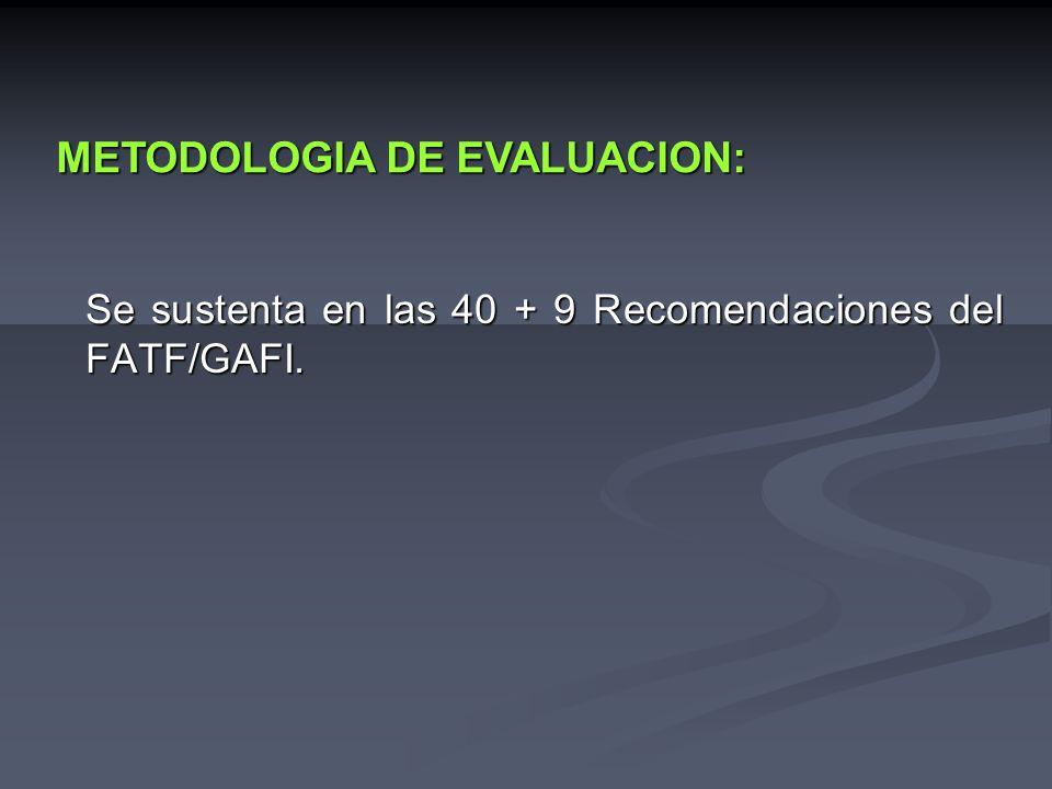 La Metodología de Evaluación del GAFI - FMI / BM.