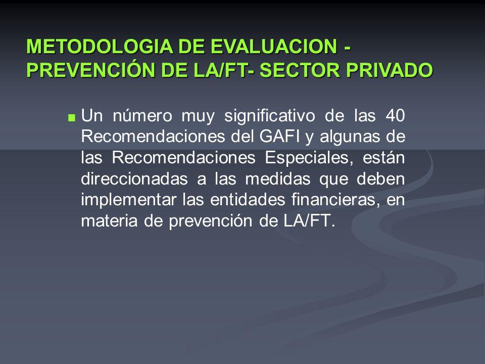 Un número muy significativo de las 40 Recomendaciones del GAFI y algunas de las Recomendaciones Especiales, están direccionadas a las medidas que debe