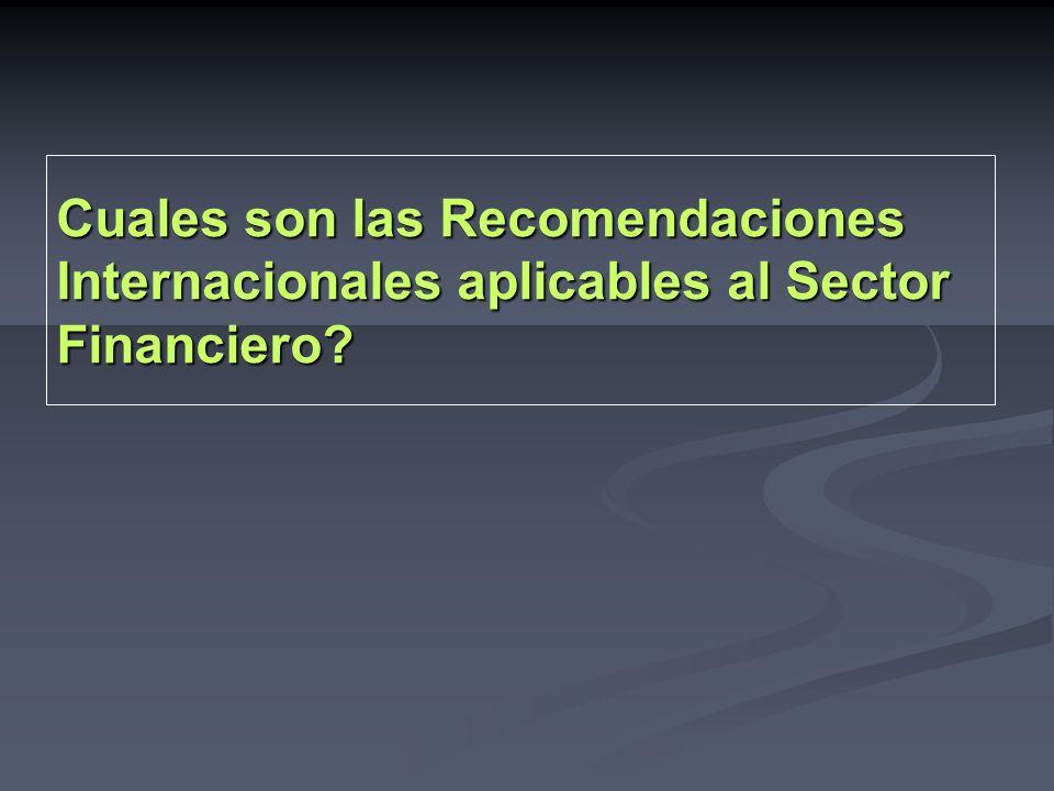 RECOMENDACIONES GAFI - Metodología GAFI / FMI – BM Criterios esenciales R5 (CE 5.1 a 5.18) > Debida Diligencia del Cliente.