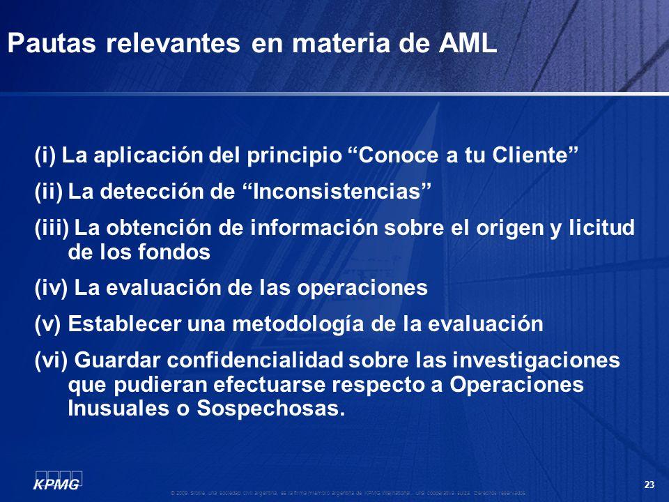 22 © 2009 Sibille, una sociedad civil argentina, es la firma miembro argentina de KPMG International, una cooperativa suiza. Derechos reservados. FORE