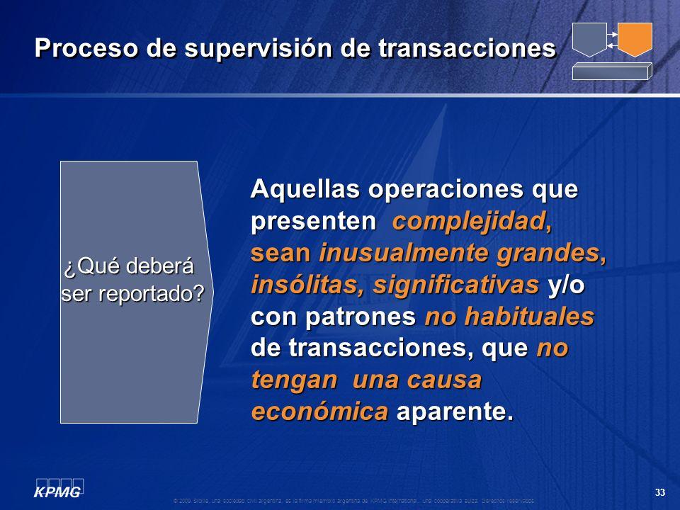 32 © 2009 Sibille, una sociedad civil argentina, es la firma miembro argentina de KPMG International, una cooperativa suiza. Derechos reservados. Revi
