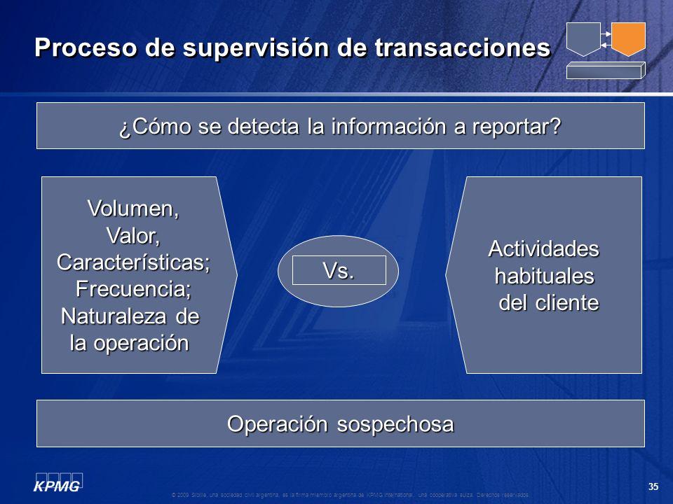 34 © 2009 Sibille, una sociedad civil argentina, es la firma miembro argentina de KPMG International, una cooperativa suiza. Derechos reservados. ¿Cóm