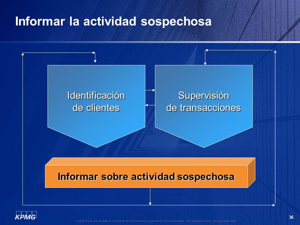 35 © 2009 Sibille, una sociedad civil argentina, es la firma miembro argentina de KPMG International, una cooperativa suiza. Derechos reservados. ¿Cóm