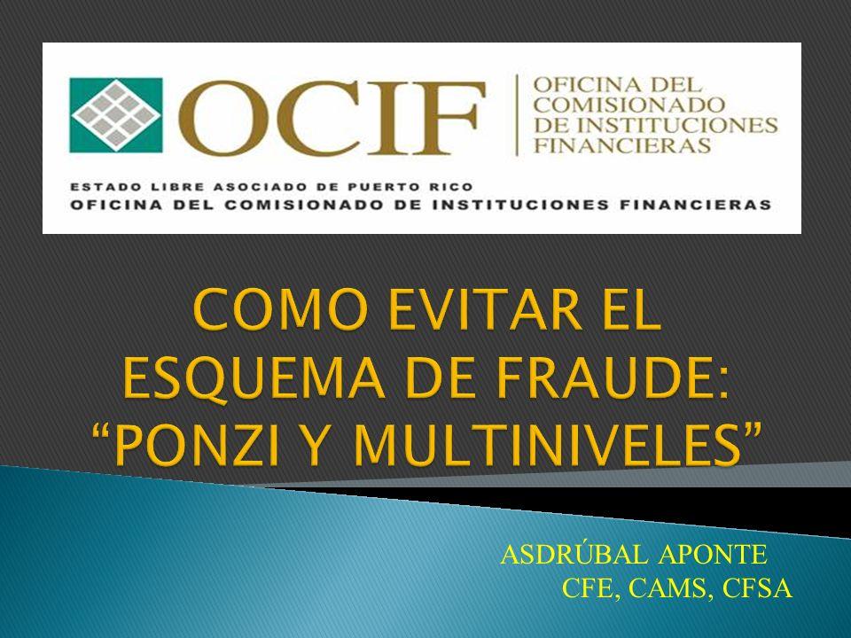 ASDRÚBAL APONTE CFE, CAMS, CFSA