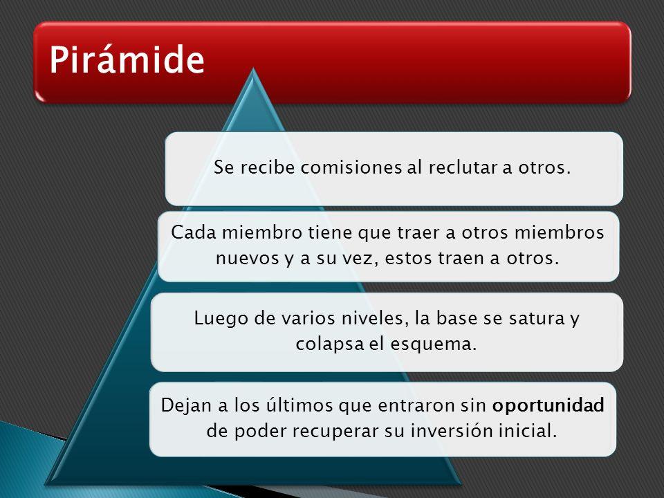 Pirámide Forma de Fraude más antigua y la tecnología multiplica su potencialidad. Ofrecen grandes ganancias en corto tiempo, sin esfuerzo y sin riesgo